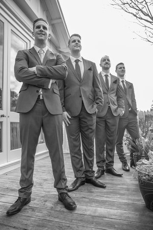 Low+angle+photo+of+groom+with+his+groomsmen
